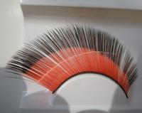 Color longer encrypted eye end extended red eye end black color double color false eyelash Ballet Latin    ymjm--159
