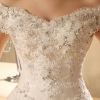 The new high-end wedding dress 2014 Korean version of the word shoulder wedding dress Qi Korean was thin straps