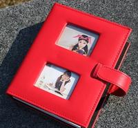 Pu photo album belt leather buckle on quality family photo album leather photo album 200 6 pocket photo album