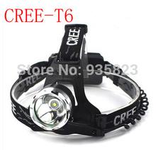 Free shipping  T6 LED Waterproof Headlight CREE Headlamp 18650 Battery Powered Head Lamps Flashlights Torch for Hunting Fishing(China (Mainland))