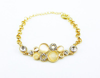 New Style Mix Lot 10pcs/lot DS035 Cat's Eey Stone Arm Candy Bracelets Hand Jewelry Women Accessories Wholesale
