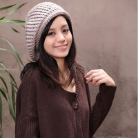 Retail women winter lovely skullies lady outdoor fashion knitted beret hats