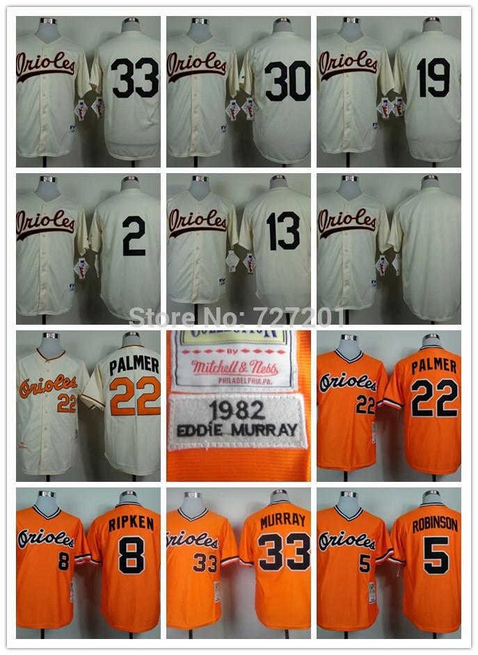 Cheap 2014 Men's Baseball Jersey Baltimore Orioles #33 Eddie Murray #22 Jim Palmer #13 Manny Machado Jersey,Embroidery Logos(China (Mainland))