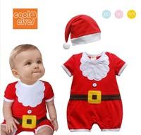 baby romper children's clothing christmas romper short-sleeve christmas romper short-sleeve christmas bodysuit size 80 90 95cm