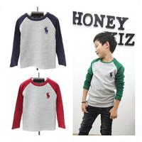 New 2014 Autumn Boys T shirts Children Tops Long Sleeve T-shirt Fashion Kids Brand Tees Clothes atacado roupas infantil