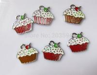 R557898! clearance sale !!!!  Wholesale  alloy enamel  charms 100pcs/lots Cake charms