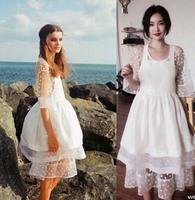 Women's Dress New 2014 Designer Women Casual Dot  White Dress