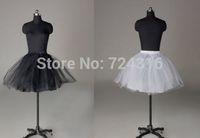 P16 hot sale 3 layers Short Skirt White and Black bridal Crinoline Petticoat Underskirt Wedding dress accessories