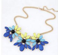 Shourouk Flower Geometric Gem Ethnic Chains Choker Collar Statement Necklaces & Pendants Fashion Jewelry Women Wholesale N150