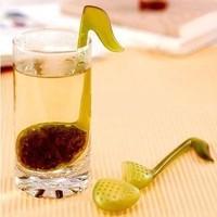 1PCS Free Shipping Music Fu tea filter Loose Tea Leaf Strainer Herbal Spice Infuser Filter Tools
