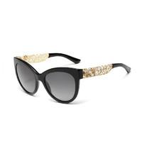 Classic Brand Design Fashion Sunglasses,High Quality Pierced Pattern Oculos De Sol,Women Elegant Cat Eye Lunettes De Soleil G333
