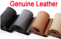3 Sizes 4 Colors High quality Genuine Leather Steering Wheel Cover, racing steering wheel, wheel hubs, car wheel cover