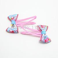 5pairs/lot 10pcs/lot kids hair clips Cartoon Peppa Pig Hairpins Hair Clip headwear baby children gift hairband girl accessories