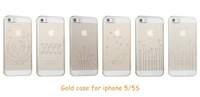 Concise Fashion Ultra-Thin Transparent Diamond Inlay Back Case For iphone 5 5S phone cases