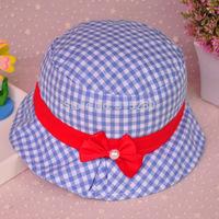 Wholesale children summer outdoor popular fishing hat baby girl fashion princess bucket cap