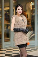 2014 new winter Imitation fur coat long women coat overcoat Imitation lambs wool coat