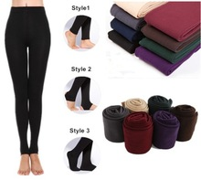 FREE /DROP SHIPPING FOR CHOICE WOMEN WARM WINTER SKNNY STRETCH FLEECE LEGGING PANT (SIZE S=STYLE 1 M=STYLE 2 L=STYLE 3)(China (Mainland))