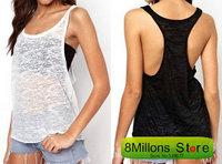 Condole belt unlined upper garment of European sexy sleeveless tshirt t female SDR#25