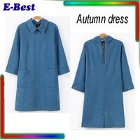2014 casual dress autumn desigual women clothing vestidos femininos sexy demin dress long plus size vintage work wear pencil