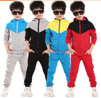2014 Kids fashion Clothing Boys/Girls Korean Long-sleeved sets Children Sports TrackSuit set baby outerwear sportwear+pants set