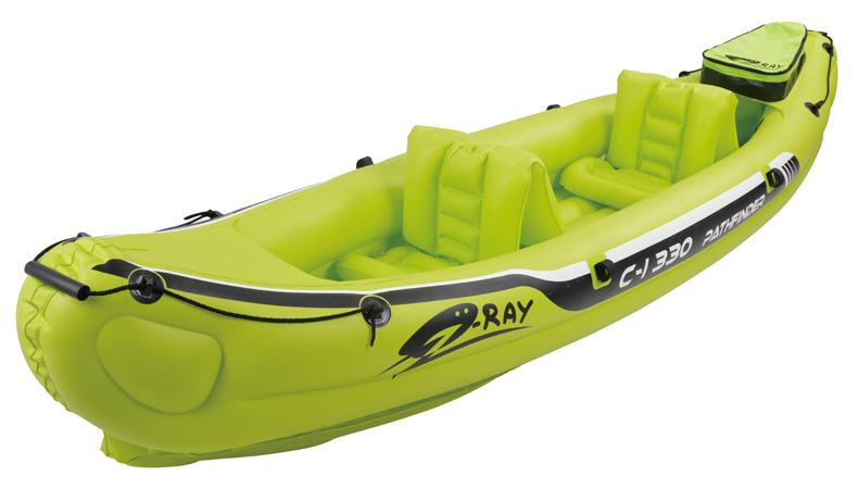 inflatable 2 preson boat sport boat 330*81*53cm, 228cm Alumnium oars, foot pump, repair kit(China (Mainland))