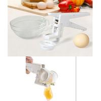 1pc/lot Handheld White Clever Egg Cracker with Separator Egg Beater Separate Egg Kitchen Set HO870644