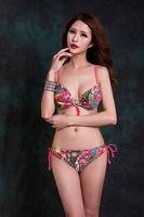 Women's Swimwears Bikini Set Fashion Steel bracket together Swimsuit printing Sexy VS Secret 2014 New