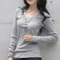 Free shipping 2014  autumn  long-sleeve T-shirt plus size clothing basic shirt slim all-match top cotton 100%
