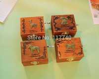 Wooden craft Lovely Trojan music box Creative gifts birthday gift