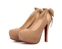 Free shipping! high heel shoes women new sexy lady 3 colors bow pumps platform women size 34-39 wholesale G0135