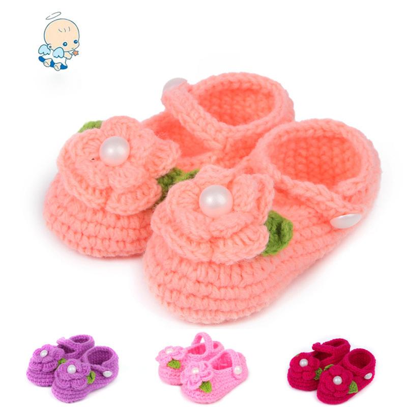 lovely flower handmade crochet baby shoes baby socks newly design(China (Mainland))