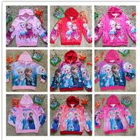 Freeshipping Retail kids cartoon Frozen coat girls spring autumn princess Elsa Anna jackets baby lovely outerwear in stock