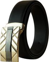 Man Genuine leather belt Cowskin belt Slide buckle Brand designer Solid AdjustableCintos Cinturon 4 colors M238 New arrival