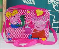 2014 In Stock Kids Peppa Pig Bags Messenger Bags Cartoon Leisure Frozen Princess Bags Free Shipping