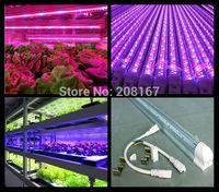 100Pcs/lot 60CM Length Indoor Plant Tissue Culture Lights 8W Full Spectrum Led Grow Tube Light D309