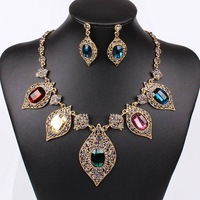 2014 Fashion High Quality Bride jewelry Golden Necklace Set QDTL405