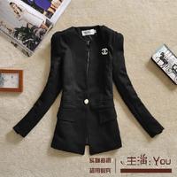 Free shipping 2014 autumn new arrived elegant slim female blazer suit outerwear temperament shrug small suit women suit jacket