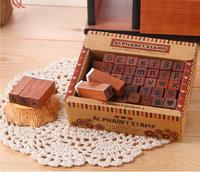 Cheap Corea Vintage Wood English Digital Kids Stamp Set Free Shipping GGHHWJ007