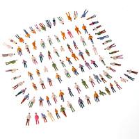 Painted Model People 100pcs Plastic Crafts HO Scale 1:75 Park Person Street Figures Mix Painted Model Train Passenger