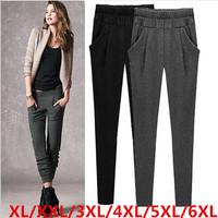XL-6XL size 2014 european style new plus size loose women winter pants women work wear trousers harem pants free shipping