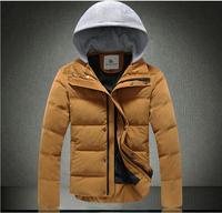 New 2014 Men Cotton Padded Jacket Winter Outdoors Parka Jaqueta Masculina Baseball Uniform Clothing Casual Black Coat