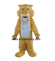 100% real pictures ice age adult sabertooth tiger mascot costume with cooling fan