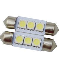 2pcs/lot 36mm 3 SMD LED 239 272 C5W WHITE INTERIOR LIGHT FESTOON BULB