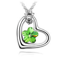 10pcs/lot Free shipping&nice gift&crystal necklace/pendant/heart/IIDHA1118
