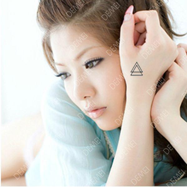 Sex Products Temporary Tattoo Tatoo For man Weman Waterproof Stickers makeup maquiagem make up Double delta Pyramid tattoo WM169(China (Mainland))
