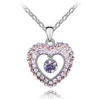 10pcs/lot Free shipping&nice gift&crystal necklace/pendant/heart/IIDHA1135