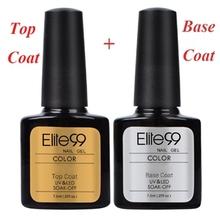 Elite99 Shellac Top Base Coat UV Topcoat Set Gel Nail Polish Builder Nail Art Gel Polish 7.3ml Long Lasting(China (Mainland))