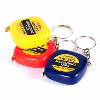 Free shipping HS010 Useful Trendsetter Mini Tape Rule Keychain 1m Tape Measure Key Chain Novelty Gift 3.5*3.5*1cm