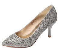 2014 Bling Bling Style Elegant Rhinestone Women High Heels Shoes Genuine Leather Pumps Free Shipping