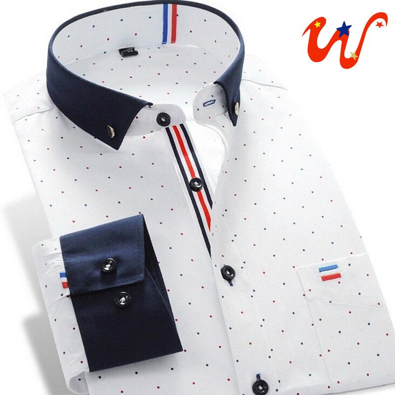 2014 New Men's Shirts Long-Sleeve Formal Suit Brand Dress Shirt Plus Size Hit Color stitching Casual Dress Shirt S-4XL XG50-224(China (Mainland))